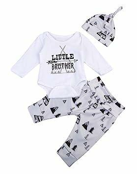 7dde7d707ff 3PCS Newborn Baby Boys Cute Letter Print Romper+Camouflage Pants+Hat  Outfits Set (0-6 M
