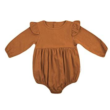 1db72fe0ce0 BELS Infant Baby Girls Twins Butterfly Sleeve Ruffles Romper Bodysuit  Outfits