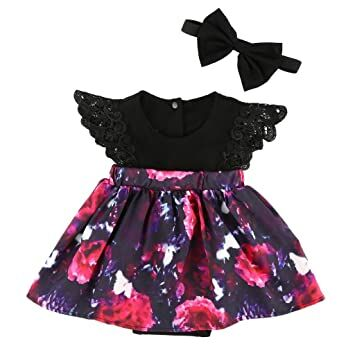 fc01e5452 MIOIM 2pcs Kids Toddler Baby Little Girls Sisters Ruffled Floral Jumpsuit  Romper Dress Outfits Set (0-3M, Little Sister)