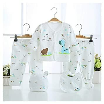 edccc8e3d 5PCS Newborn Girl Boy Clothes Unisex Photography Outfits Baby Gifts Layette  Sets Blue