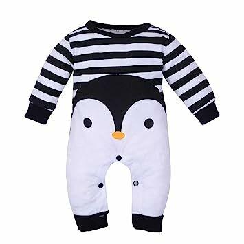 14eb4fc29 vmree Baby Outfit, Newborn Girl Boy Cartoon Print Romper Jumpsuit  Pajamas(3-18M) (3M, Black)