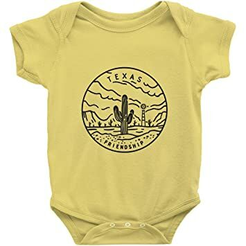 acae8e3c04e Texas State Design - Unisex Infant Baby Onesie/Bodysuit (Yellow, NB)