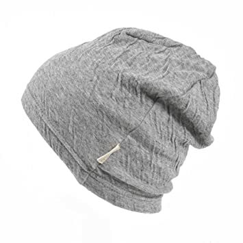 Baby Boys Slouchy Beanie - 100% Organic Cotton Soft Hypoallergenic Infant  Toddler Girls Cap Made in Japan Light Gray b3e11d731721