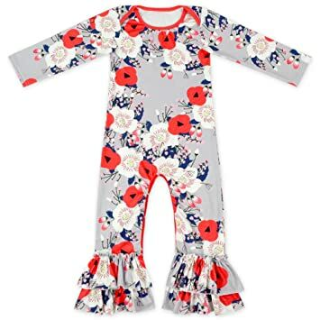 e2363dc3a62 Anbaby Baby Girls Cute Romper Bodysuit Clothes (6-12 Months