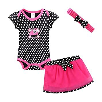 529fe6e7091 Mud Kingdom Thanksgiving Baby Girl Outfits 9-12 Months Clothes Sets  Halloween Skull 12M Small Dot
