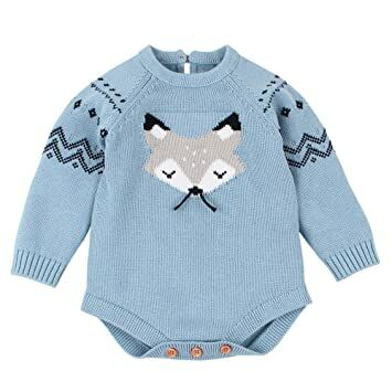 0a634168b Infant Fox Romper Onesies Clearance! Iuhan Newborn Baby Knitted Sweater  Jumpsuit Tops