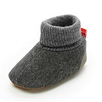 Sawimlgy US Infant Baby Boys Girls Fleece Booties Non Slip Bottom Soft Sole Socks Slippers Shoes First Birthday Gift