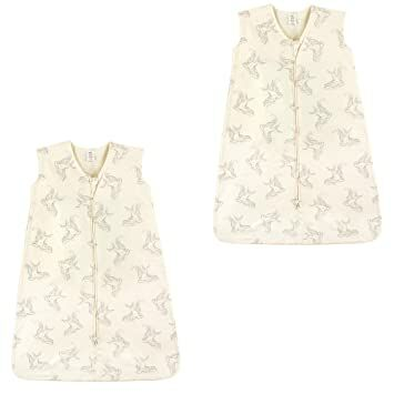 e1f57c7b1 Touched by Nature Baby Organic Cotton Wearable Safe Printed Sleeping Bag,  Bird 2 Pack, 6-12 Months