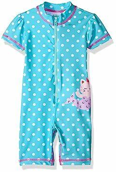 Kiko   Max Baby Girls Full Body Rash Guard Swim Suit Coverall Bodysuit ca9c6af95