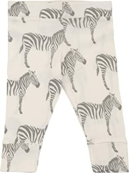 373cb5845f0 MilkBarn Organic Cotton Infant and Toddler Leggings Grey Zebra (6-12 Months)