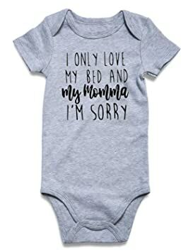 485f9bb8c BFUSTYLE I Only Love My Bed and My Momma Im Sorry Onesie, Funny Drake  Inspired Onesie, New Baby Gift