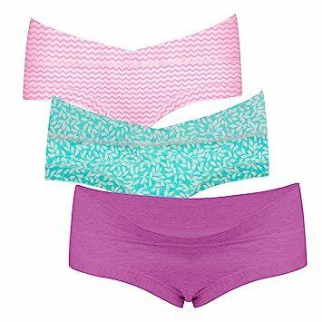 430f8dd5f63e Intimate Portal Women Under The Bump Maternity Panties Pregnancy Cotton  Underwear 3-Pk Purple Green Pink M
