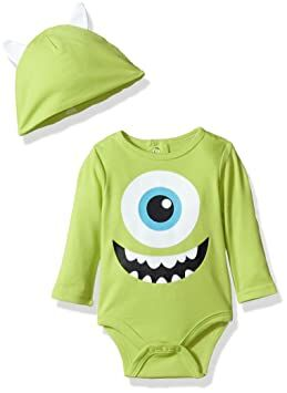 b26c2359b Disney Baby Boys' Monsters Creeper, Green, 6-9 Months