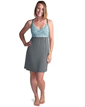 fd94baa01b Kindred Bravely Lucille Nursing Nightgown   Maternity Gown (Ocean Mist