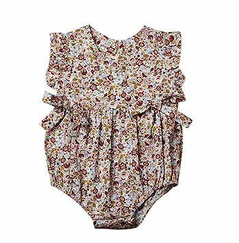 9a10fd02effba Mornbaby Baby Girls Sleeveless Butterfly Bow Ruffled Hollow One-Piece  Romper Bodysuit (9-18M