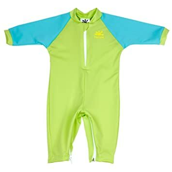 d588f83340f1 Nozone Fiji Sun Protective Baby Swimsuit in Lime Aqua