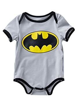68498241601 D.B.PRINCE Newborn Baby Boys Girls Superman Short Sleeve Bodysuit Romper  Outfits (0-3 Months