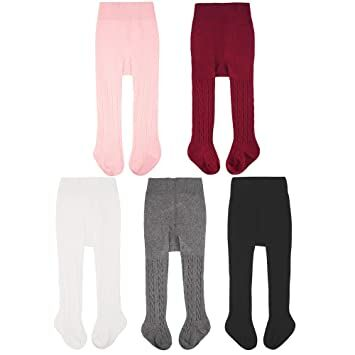 32aad74a0bd50 CozyWay Baby Girls Tights Cable Knit Cotton 3 5 Pack Leggings Pantyhose  Infants Toddlers