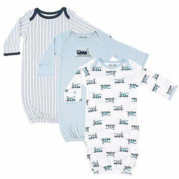 8393d8b32 Luvable Friends Unisex 3 Pack Cotton Gown, Trains, 0-6 Months