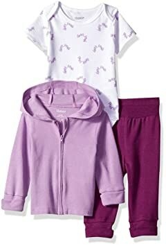 77f51efc45a6 Hanes Ultimate Baby Girls Flexy Jogger with Bodysuit and Zippin Knit Hoodie  Set