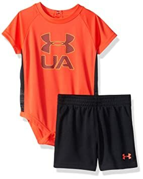 e1c6715222e Under Armour Baby Boys Speed Don't Lie Set, neon Coral, 6-9 Months