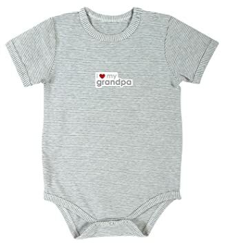 b0954305ee8 Stephan Baby Gray Stripe I Love My Grandpa Snapshirt-Style Diaper Cover