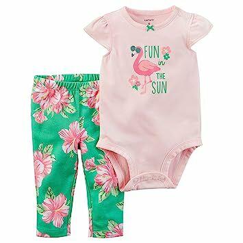 Carter s Baby Girls  2 Piece Flamingo Bodysuit And Floral Leggings Set 3  Months c5456455b
