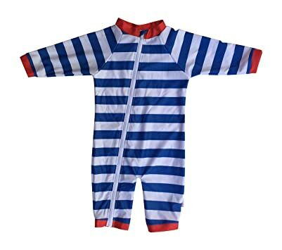 853a8e6310ac SwimZip Little Boy Long Sleeve Sunsuit with UPF 50 Sun Protection