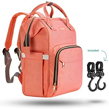 ZUZURO Diaper Mommy Bag - Waterproof Backpack w Large Capacity   Multiple  Pockets for Organization. Ideal for Travel Nappy Bags - W Insulated Bottle  Pocket. dae62af999efd