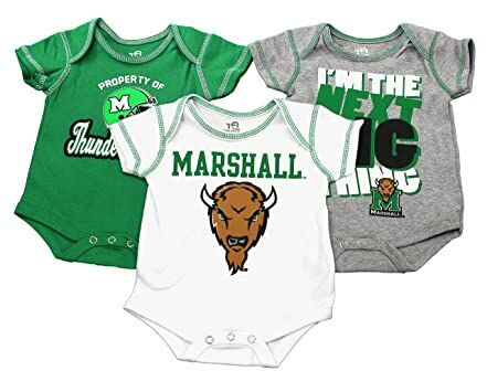9ba7e9af311 Outerstuff Baby Texas Marshall Thundering Herd Next Big Thing 3 Piece  Creeper Set (6-9 Month