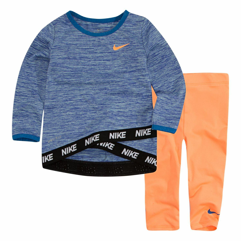81b28b587 Baby Girl Nike Dri-FIT Tunic Top & Leggings Set