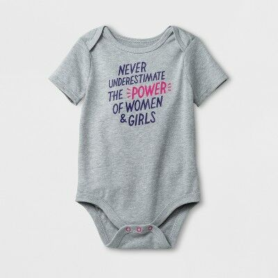 5690833c0b3 Baby Girls  Never Underestimate Short Sleeve Bodysuit - Cat   Jack™  Platinum 18M