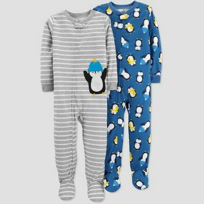 869dc442b Baby Boys' Stripe Penguin Poly Pajama Set - Just One You® made by carter's  Gray 12M