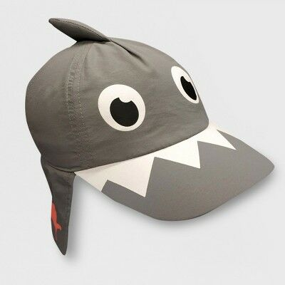 d0370fdc930 Toddler Boys  Shark Baseball Hat with Neck Flap - Cat   Jack™ Gray 2T-5T