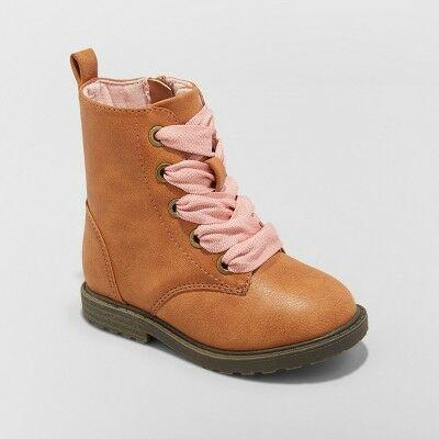 859fc73866320d Toddler Girls' Cherish Lace up Boots - Cat & Jack™ Cognac 7