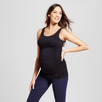 23d05b6a2642 Maternity Seamless Ruched Tank - Isabel Maternity™ by Ingrid   Isabel®  Black S M