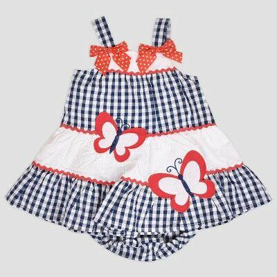 a608f67f6 Baby Girls' Multi Tier Butterfly Seersucker Dress Nate & Annee™ Blue 3-6M
