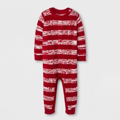 a02d2e716 Baby Boys' Marled Sweater Romper - Cat & Jack™ Red Cable 0-3 M