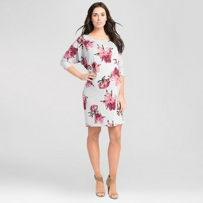 2328a12452a2f Maternity Floral Print Batwing Dress - Expected by Lilac - Silver L