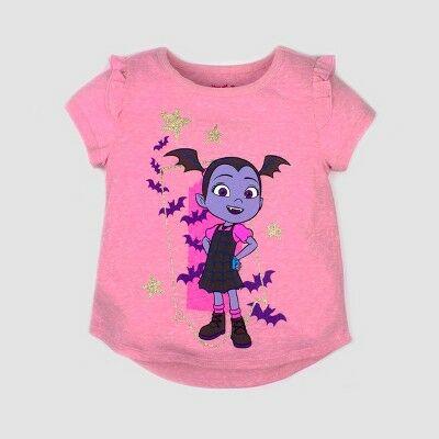 618dcbb05054a Toddler Girls' Disney Vampirina Short Sleeve T-Shirt - Pink 2T