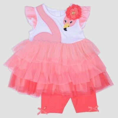 8b2b89ef0 Baby Girls' Jersey Top and Bike Shorts Set Nate & Annee™ Dark Peach 0-3M