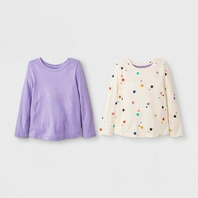 e92d974d2 Toddler Girls' 2pk Long Sleeve T-Shirt Set - Cat & Jack™ Calla Lily 12M