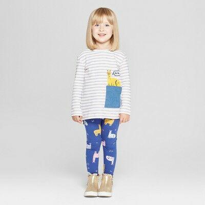 4a9f8f3a00744b Toddler Girls' 2pc Llama Long Sleeve T-Shirt and Leggings Set - Cat & Jack™  Violet 2T