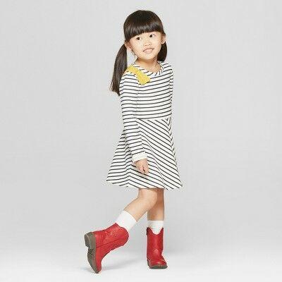 1b2bae7a7 Toddler Girls' Stripped Dress - Genuine Kids® from OshKosh White 2T