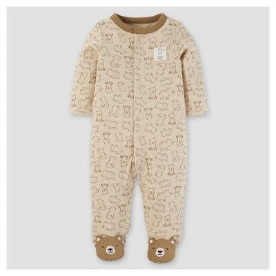 66a56782e Baby Boys' Cotton/Poly Bears Sleep N' Play - Just One You™ Made by  Carter's® Khaki 3M