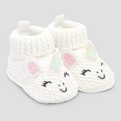 76e9c848b0342 Baby Girls' Bootie Slippers - Just One You Made By Carter's Pink/White  Newborn