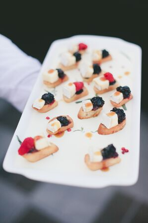 Brie and Berry Passed Appetizers