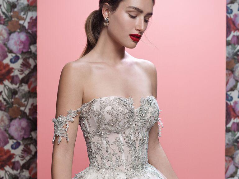 Galia Lahav Spring 2019 beaded glamorous wedding dress
