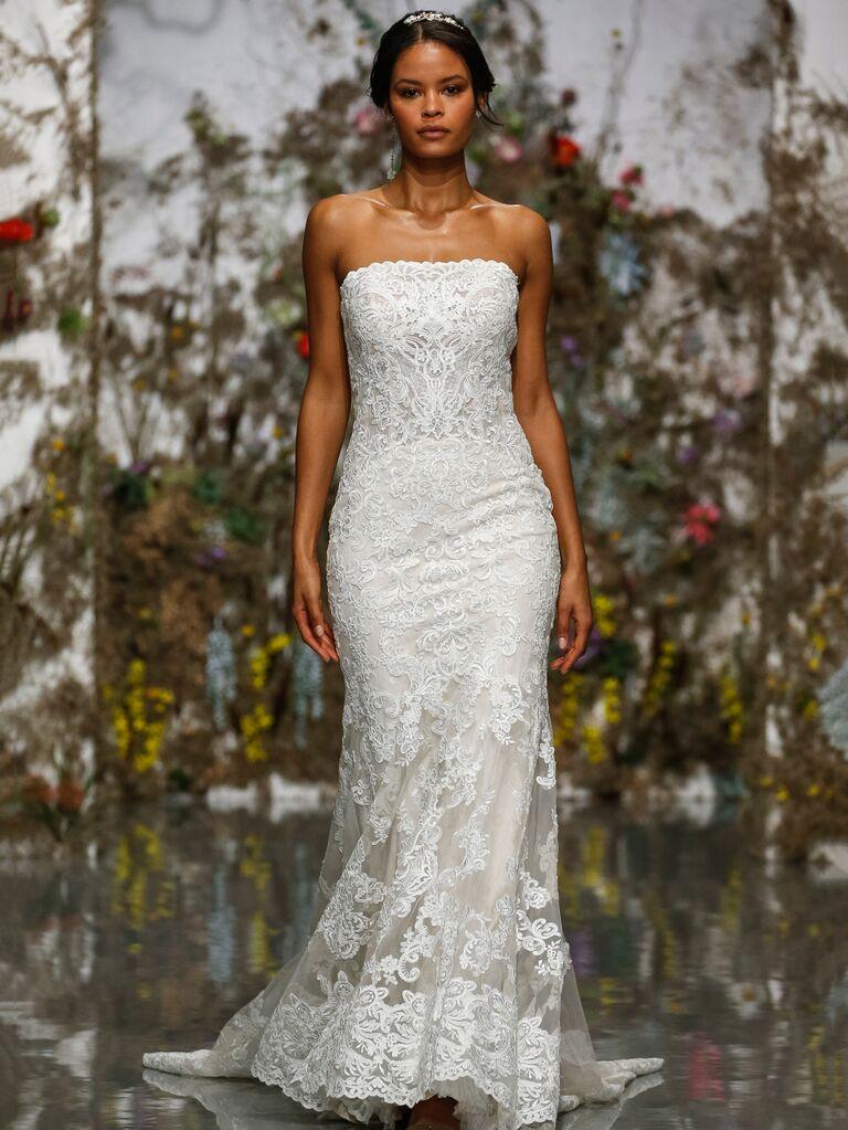 Morilee by Madeline Gardner Spring 2020 strapless lace wedding dress