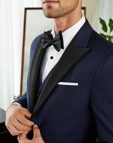 Men's Wearhouse Joseph Abboud Custom Tuxedo Blue Tuxedo